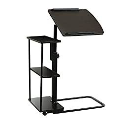 Doworks Adjustable End Table with Shelves