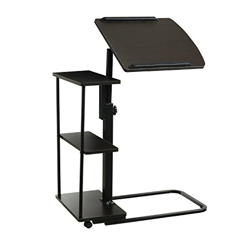 doeworks–Mesilla auxiliar para cama (con ruedas, altura ajustable para portátil escritorio móvil, sofá mesa