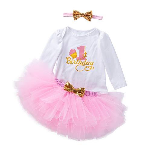 K-youth Vestidos Bebé Primer Cumpleaños Niñas Tutú Vestido de Princesa Vestidos de Fiestas para...