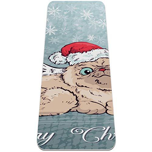 Esterilla Yoga Mat Antideslizante Profesional - luces de Navidad - Colchoneta Gruesa para Deportes - Gimnasia Pilates Fitness - Ecológica