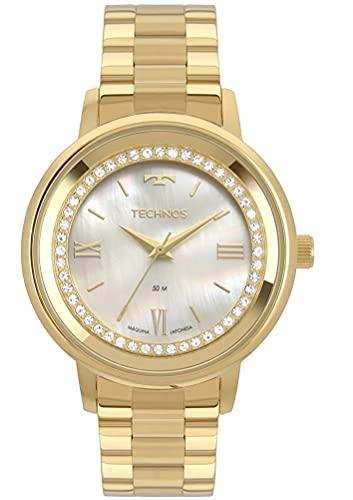 Relógio Technos, Pulseira de Aço, Feminino, Dourado