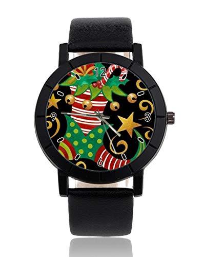 Reloj de Pulsera Personalizado con diseño de Zapatos de Navidad, Informal, Correa...