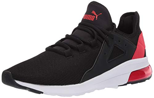 PUMA Electron Street Sneaker, Black-High Risk Red, 10.5 M US