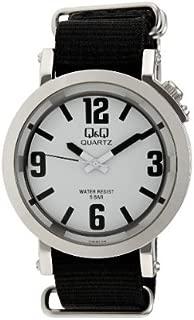 Q&Q Men's White Dial Nylon Band Watch - Q758J304Y