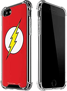 Skinit Clear Phone Case for iPhone 7 - Officially Licensed Warner Bros The Flash Emblem Design