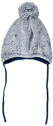 maximo Jungen 85574-264400, ausgenäht, Band, Struktur Mütze, Blau (Hellblau Meliert 80), 51