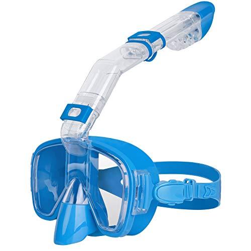 Unigear Tauchmaske, Anti-Fog Faltbare Schnorchelmaske, Dry Top Schnorchelausrüstung mit Kamerahalterung zum freien Tauchen und Schwimmen, geeignet für Erwachsene & Kinder