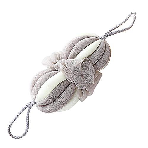 TIREOW Éponge de bain douche brosse maille exfoliante Pouf Bain Douche Boule Eponge Propre– Utilisation Sec/Humide(Taille: environ 42cm/16.5inch) (Gris)
