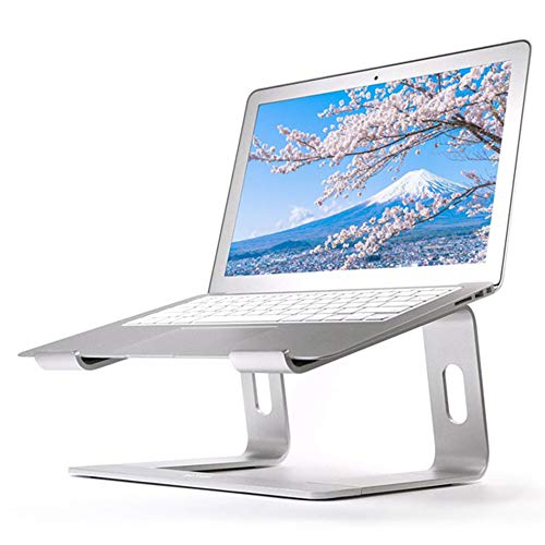 DEDECP Laptop Stand, Ergonomic Laptop Riser, Aluminum Laptop Holder Cooling Stand Compatible for MacBook Pro/Air, HP/Dell/Lenovo/Samsung, 11-15.6' Notebook and Tablet Silver