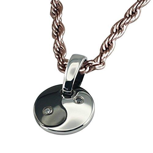 Yin Yang Magnetschmuck Set Energetix 4you 1372 mit Swarovski® Elements Plus Zwischenstück 1468/1961 und Magnetix Edelstahl Halskette 2114