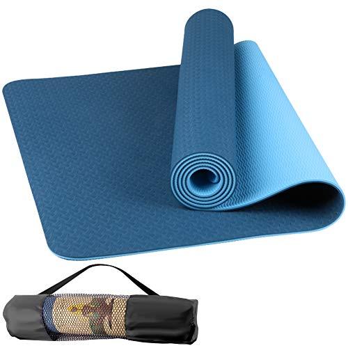 StillCool Gymnastikmatte, rutschfest Eva Yogamatte Fitnessmatte mit Aufbewahrungstasche ideal für Pilates, Gymnastik und Yoga - 183 x 61 x 0,6cm