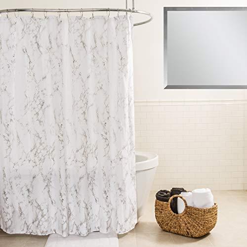 Splash Home Cortina de Ducha de Tela de poliéster de mármol, 70 x 72 Pulgadas, Gris