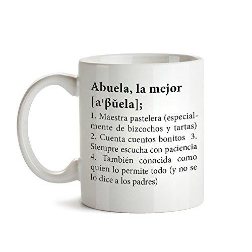 Taza con Mensaje – Definición Original de la Mejor Abuela – Estándar – Taza de café Divertida e Ideal para Regalar a la Abuela – Regalos para cumpleaños