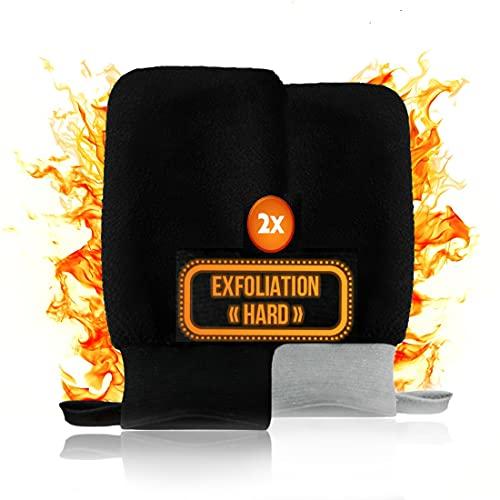 2 x Guanto esfoliante – Guanto scrub corpo – Guanto esfoliante per pelli resistenti e miste – Guanto Kessa – Guanto Hammam – Guanto da toilette – Guanto esfoliante – Scrub corpo-bagno doccia