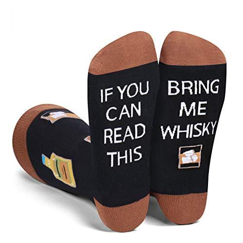 Zmart Herren Socken mit Spruch Bring Me Taco Bacon Sushi Bier Whisky Wein Kaffee Geschenke Socken - - Medium
