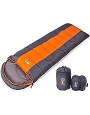 DesertFox 寝袋 封筒型 軽量 シュラフ 防水 コンパクト【 選べる6色】1kg 1.4kg 1.8kg アウトドア 登山 車中泊 丸洗い 収納袋付き オールシーズン