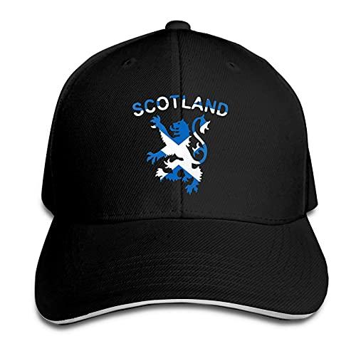 LZBBJ Lion Rampant Scotland Scottish 1 Gorra Tipo sándwich Parasol de Moda Sombrero de béisbol Ajustable a Prueba de Viento Gorras Deportivas diarias al Aire Libre para Mujeres Hombres