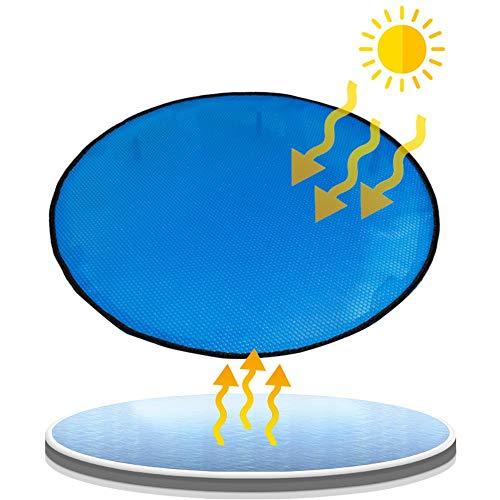 QIANDA Solarplane, Solarfolie Poolheizung, Runden Solar Plane Vereiteln Zum Schwimmbad Heizung Schwerlast, Dick 400um (Size : 130 x 130cm)