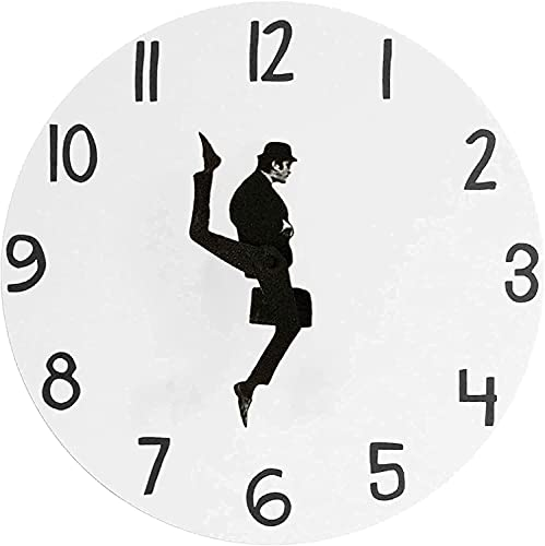 Ministry of Silly Walks Reloj Cuadrado, Divertido Reloj de Pared silencioso Moderno para la decoración de la Sala de Estar, Divertidos Relojes de Pared Que Funcionan con Pilas (Redondo)