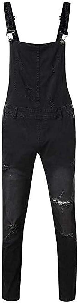 Ulooker Men's Denim Bib Overalls Jeans Slim Fashion S 5 ☆ very popular Fit Casual Popular