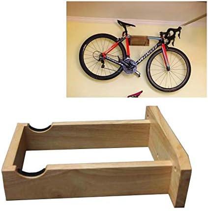 JXS-Outdoor Portabicicletas montado en la Pared - Hecho a Mano - de Madera de Goma - Rack de Almacenamiento Ciclo de la Bicicleta,Mountainbike: Amazon.es: Hogar