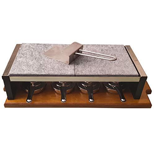 Piedra para Asar Carne a la Piedra de 20x40x2,5 cm Especial Chuletón con 4 quemadores