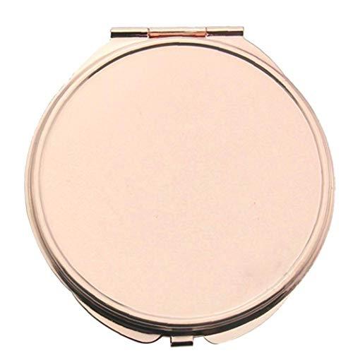 Miroir pratique sac à main rose d'or miroir de maquillage compact pliant Miroir de poche pour voyager, Camping-Grande Forme Cercle