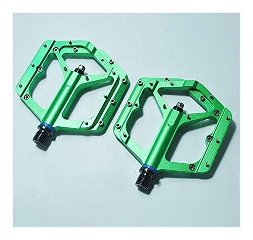 JINSUO Moonlight Star Diseño de Bicicleta Pedales -New Gran Plataforma de aleación CNC rodamientos sellados Ligeros Pedales de la Bicicleta de montaña (Color : Green)