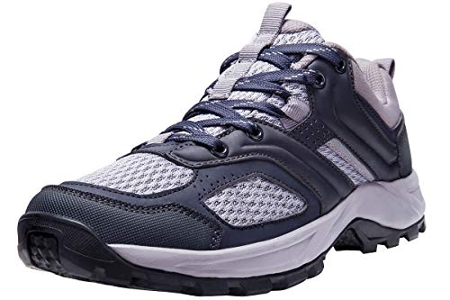 CAMEL CROWN Hiking Shoes for Women Tennis Trail Running Backpacking Walking Shoes Comfortable Slip Resistant Sneakers Lightweight Athletic Trekking Low Top Boot Black 8.5B(M) US