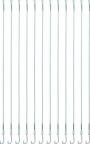 12 Raubfischvorfächer mit Haken in verschiedenen Hecht Zander Barsch als Set, Größe:1