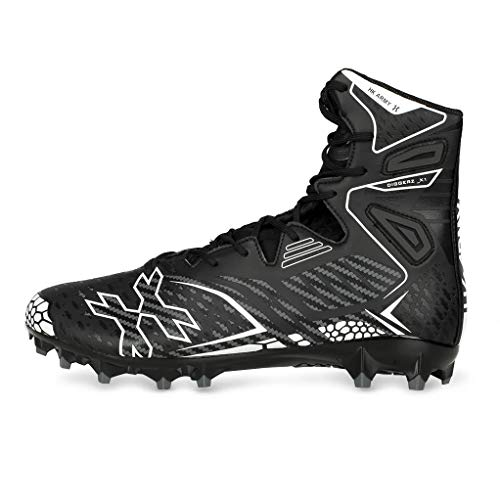 HK Army Digger X1 Hightop Paintball Cleats - Black/Grey (11)