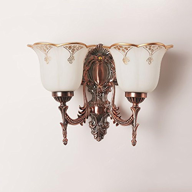 Hines Europische einzelne Kopf LED Luxus Metall Nachtwandleuchte Wohnzimmer Schlafzimmer Gang kreative Glaswand Licht Zink-Legierung Treppenhaus Hintergrund Wandleuchte Leuchte