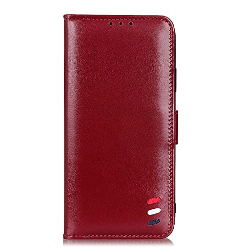SHIEID Funda para Xiaomi Poco M3 Pro 5G Funda [Cierre Magnético] Carcasa de Cuero PU Cartera Billetera [Soporte]+[Tarjetas Ranuras] Case para Xiaomi Poco M3 Pro 5G-Rojo