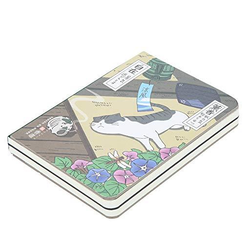 Cuaderno de composición, Cuadernos de la escuela universitaria Cuaderno del diario diario, portada impresa de dibujos animados japoneses, papel grueso, 5.7 '' * 4.1 '', 224 hojas(Incienso)