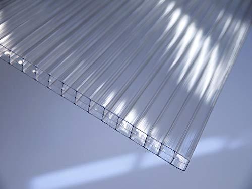 Polycarbonat ECO Stegplatte 16mm, klar, Steg 3-Fach, 16/25/3 ECO 980mm x 3500mm