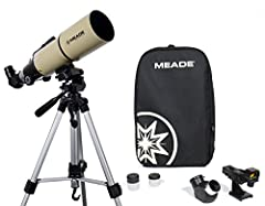 Perfect scope for day or night! Achromatic refractor with a large 80mm aperture 2 - 1. 25-Inch eyepieces for observing at both low & high magnification Lightweight aluminum tripod This portable scope includes a backpack to fit oat, tripod, & accessor...