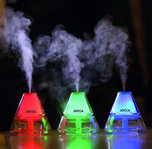Jocca 1093 Aroma-diffuser en elektrische luchtbevochtiger met LED-lampen en USB-oplaadkabel, transparant