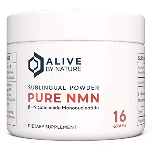 Pure NMN Sublingual Powder (16 Grams) No Additives | AliveByNature | Nicotinamide Mononucleotide Supplement | NAD Boosters | Anti Ageing Supplements