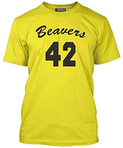 Unisex Beavers 42 Yellow T-shirt