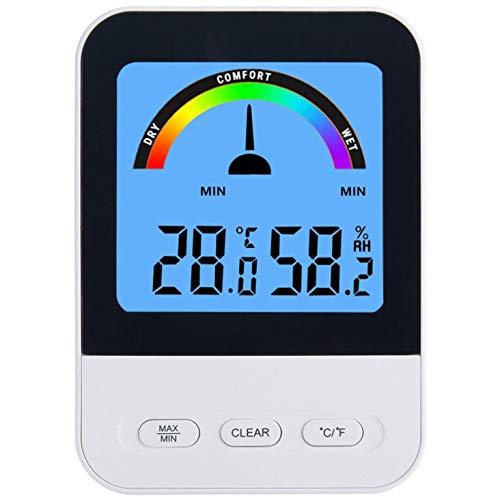 Basage TermóMetro de Interior HigróMetro Digital, TermóMetro de Monitor LCD, Adecuado para el SóTano de la Oficina en Casa, Temperatura Celsius