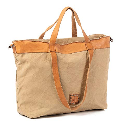 Campomaggi Shopping Bag Canvas 38 cm beige