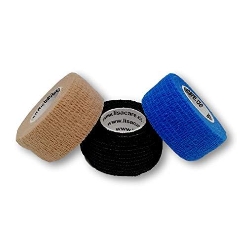 LisaCare Fingerpflaster | Fixierpflaster-Sensitive 2,5cm x 4,5m | Pflaster ohne Kleber | Wundverband | Pflasterverband (3er-Set)