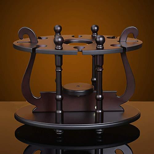 XUSHEN-HU Estante de vino, estante de vino estante de vino 1 botella de vino 6 de cristal de la bodega de vino de la cocina soporte de la barra de soporte Inicio