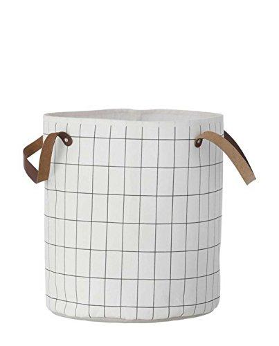 Ferm Living Grid Korb, Bio-Baumwolle, Schwarz/Weiß, L B: 35 x H: 40 cm