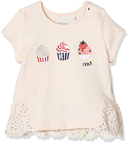 IKKS Junior tee-Shirt Cupcakes Camiseta, Rosa (Rose poudré 32), 3-6 Meses Bebé Niñas