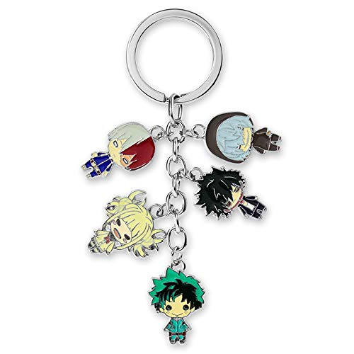 JCvCX Anime Role Himiko Toga Keychain Boku No Hero My Hero Academia Keychains Deku Keyring Zinc Ally Key Ring Key Tag
