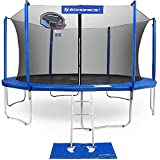 SONGMICS Outdoor Trampoline 12-Feet with Basketball Hoop and Backboard Enclosure Net Jumping Mat and Safety Spring Cover Padding TÜV Rheinland Certificated According to ASTM and GS USTR12BU