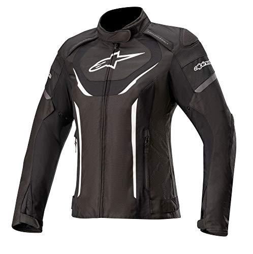 Alpinestars Chaqueta de moto Stella T-Jaws V3 impermeable para mujer, color negro/blanco, talla S