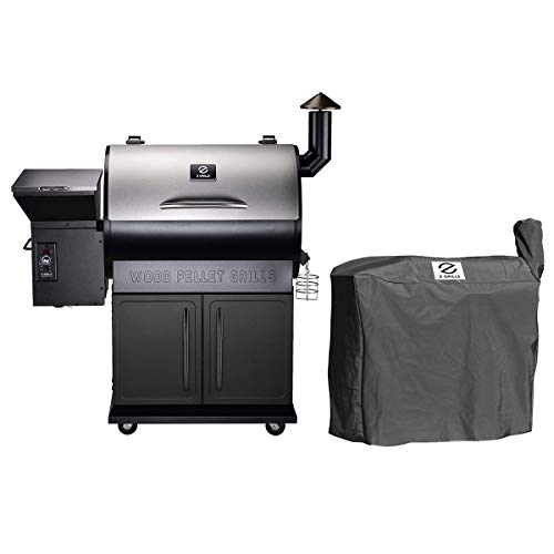 Z GRILLS ZPG-700E Wood Pellet Grill Smoker for Outdoor Cooking with Cover, 2020 Upgrade, 8-in-1 & Pid Controller