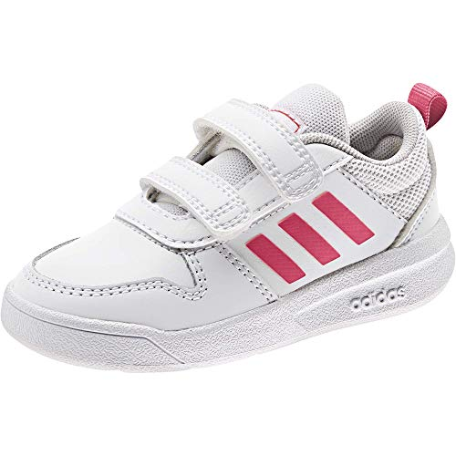 adidas TENSAUR I, Scarpe da Corsa Unisex-Bambini, Ftwr White/Real Pink s18/ftwr White, 25 EU